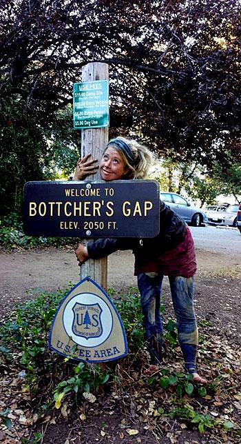 Brittany Nielsen at Bottcher's Gap in Big Sur.