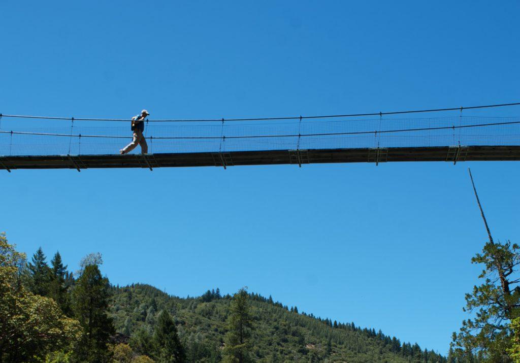 NW CA Hayfork Creek bridge walker. photo: Jason Smith