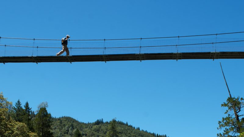 NW CA Hayfork Creek bridge walker. photo: Jason Smith