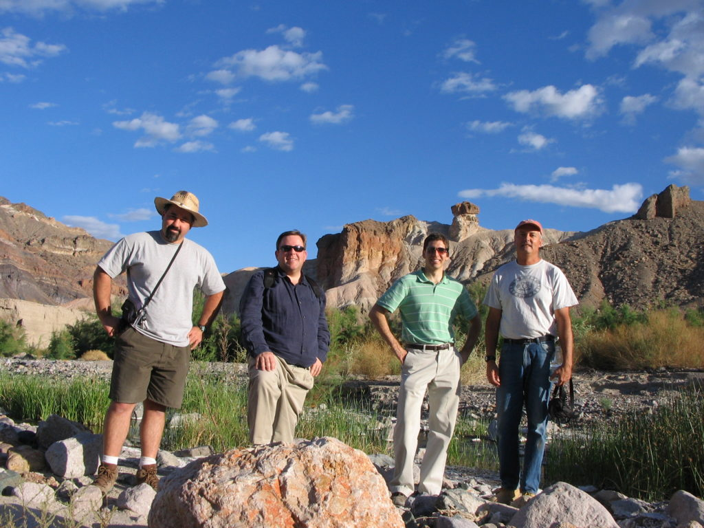 Feinstein staff near the Amargosa River